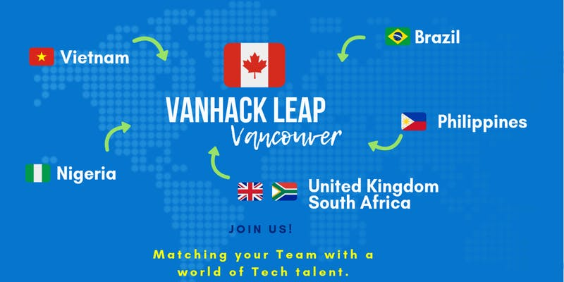 You're invited to VanHack Leap Vancouver with VEC. Sept. 30 to Oct. 2